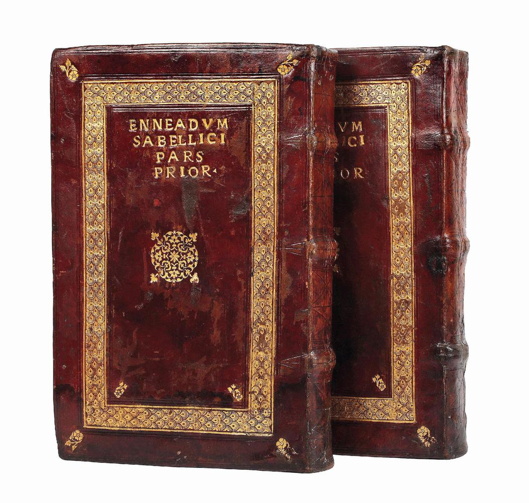 5c8d647ebaec Rare example of a Neapolitan  speaking-binding  with lettering on the lower  cover