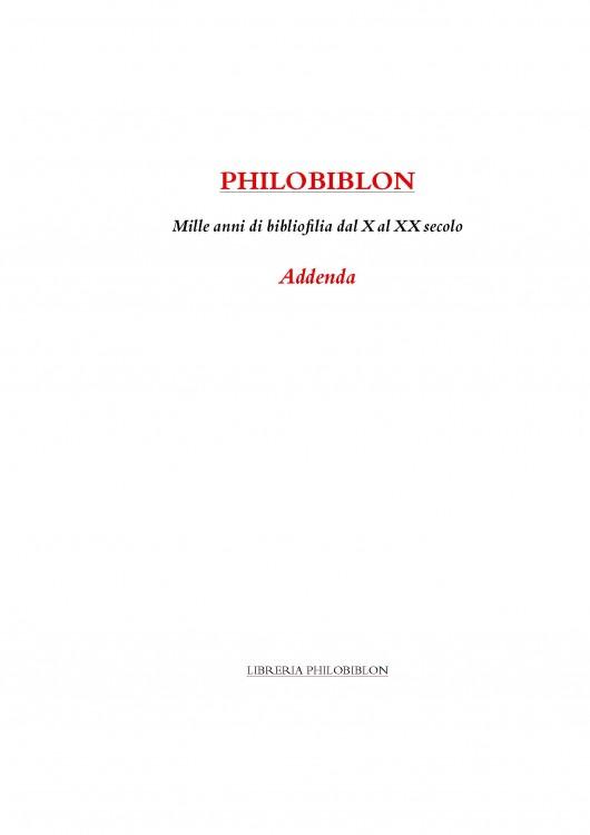 Mille Anni di Bibliofilia, Addenda - 2008