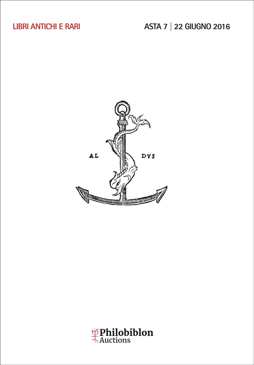 Asta 7 | Libri Antichi e Rari, con un'importante collezione di Aldine e di legature rinascimentali
