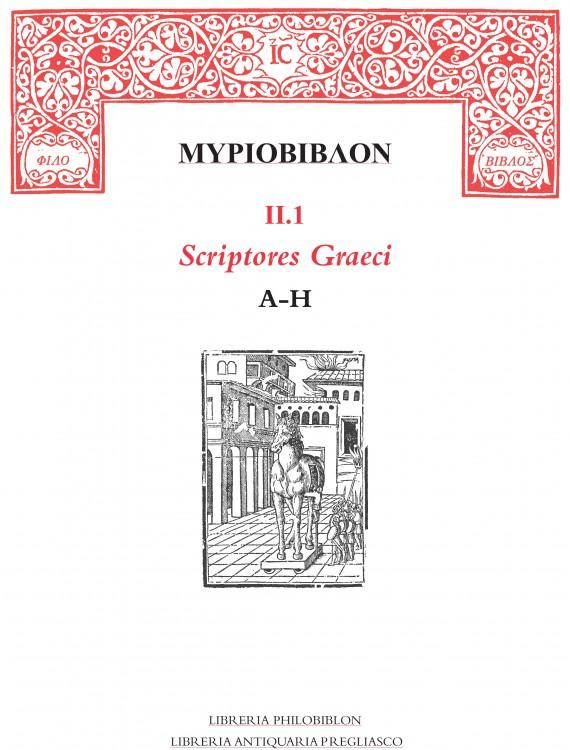 Myriobiblon II.1 Scriptores Graeci A-H
